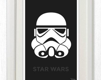Storm Trooper Star Wars Minimalist Poster 11x17 Instant PDF Download