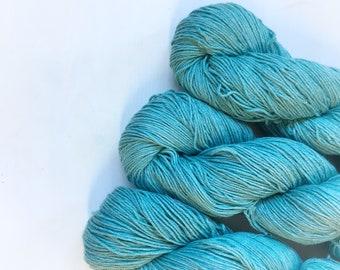 4ply Superwash Merino/Cotton - Teal