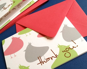 So Nice of You- in pink, thank you cards set of 6