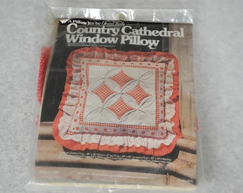 Country Cathedral Window Pillow Kit