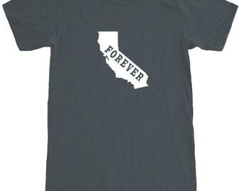 California Forever T-Shirt Men's Cotton Short Sleeve Tee SEEMBO