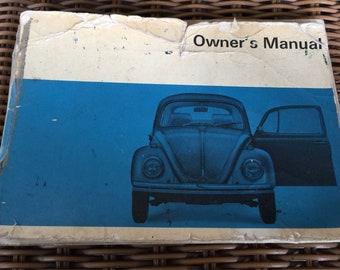 Original 1968 Volkswagen Bug Owners Manual .