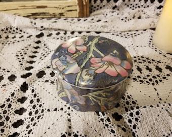 Asian floral trinket box