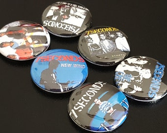 "7 Seconds 1"" Buttons/Pinbacks/Badges Punk Rock Hardcore Old School"