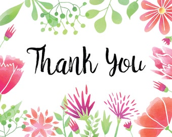 Thank You Note Card File