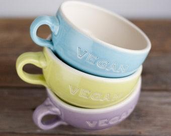 Vegan Dish - Latte Cup Mug - READY TO SHIP