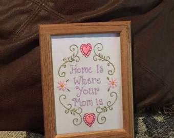 Framed Mother Embroidery 5 by 7