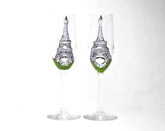 Eiffel Tower Champagne Flute