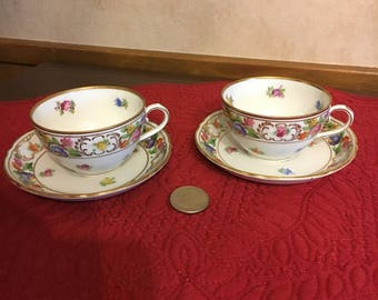 Schumann Bavaria Germany(Us Zone) Demitasse, Expresso Cup And Saucer, Set Of 2