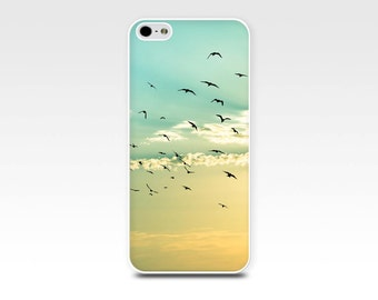 iphone 6 case birds iphone 6s case 5s photography iphone case 4s fine art iphone case nautical iphone case beach iphone case gold aqua