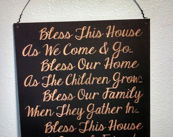 Sign, Bless This House Sign