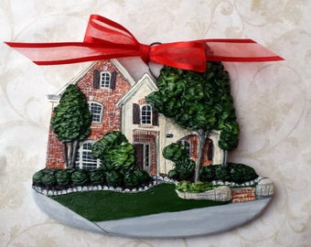 Custom listing for jrgunder- one Custom House Ornaments- a cherished keepsake of your home