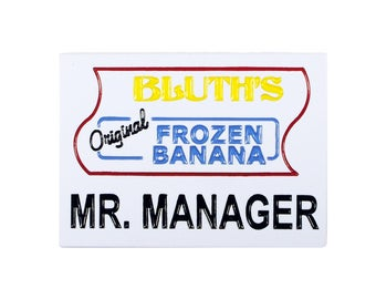 Mr. Manager Enamel Pin - Arrested Development Banana Stand Name Tag
