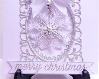 Personalised Quilled Snowflake Christmas Card, Snowflake Christmas Tree Ornament, Quilled Christmas Tree Ornament, Quilled Snowflake,