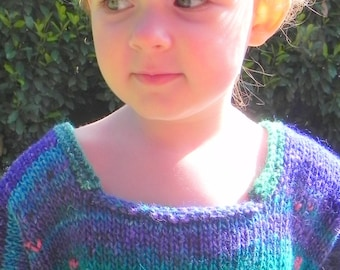 Impressionist Water Lilies Silk Toddler Sweater Pattern PDF