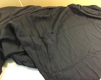 Navy rayon curtain panel fabric