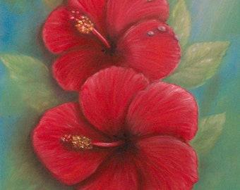 Hibiscus Digital Download, Hibiscus Art, Tropical Art Download, Tropical Flower Download, Digital Download, Instant Download