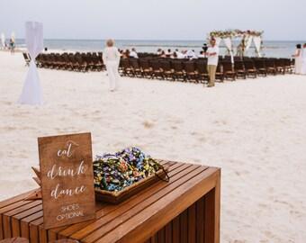 Eat, drink, dance - Wooden Wedding Signs - Wood