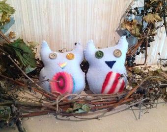 Cute Owl Couple, Fleecy Hoots
