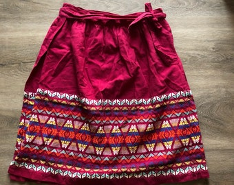 Embroidered Guatemalan Skirt