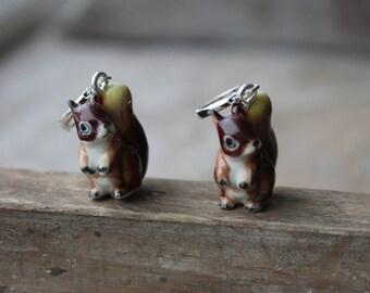 Ceramic Squirrel earrings