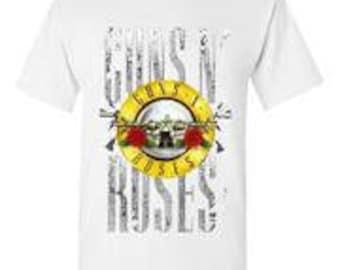 Guns and Roses White T-Shirt