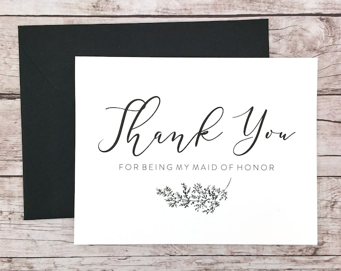 Thank You For Being My Maid of Honor Card (FPS0062)