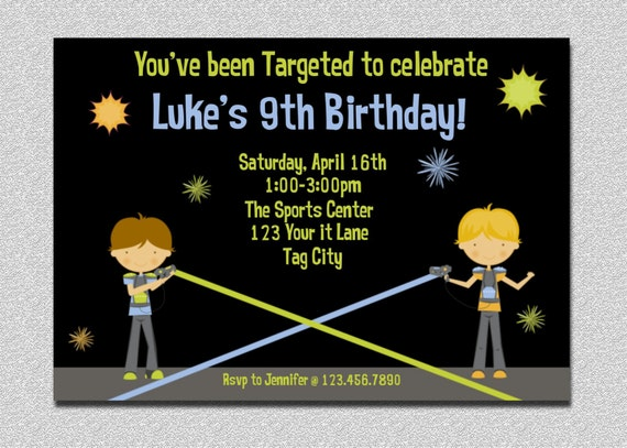 Laser tag invitation laser battle birthday party laser tag like this item filmwisefo