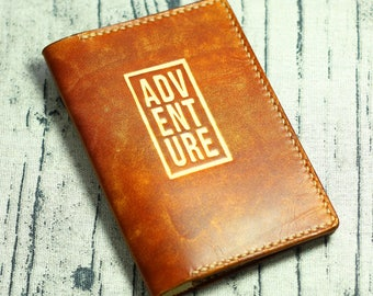 Adventure Passport cover Leather passport wallet Passport travel  wallet   passport holder Travel case Personalized monogram