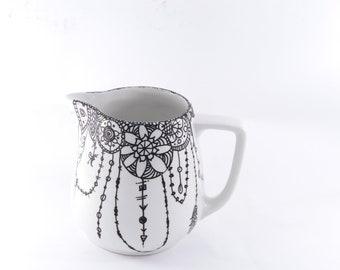 Graphic black & white pitcher