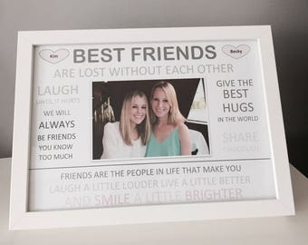 Personalised 'Best Friends' Print with Frame