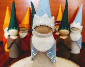 Winter Peg Doll Gnome Goblin Winter toy Waldorf Montessori