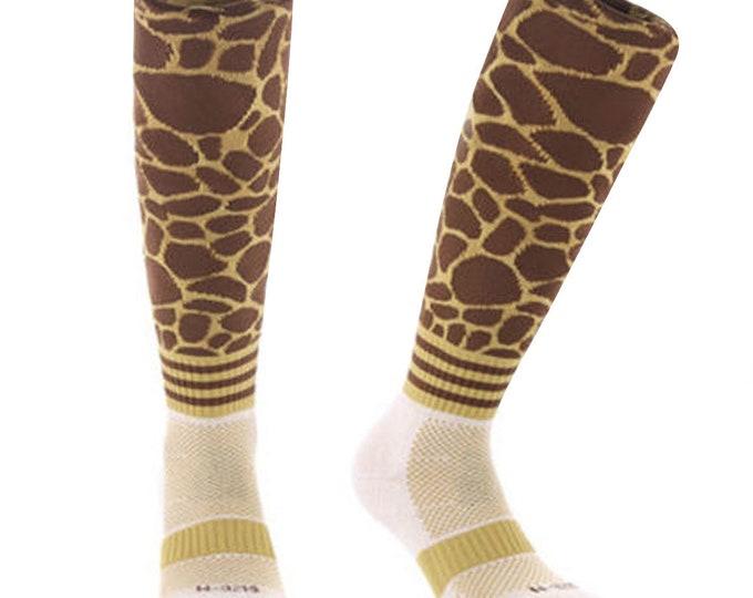 Samson® Giraffe Animal Funky Socks Sport Knee High Sport Football Rugby Soccer