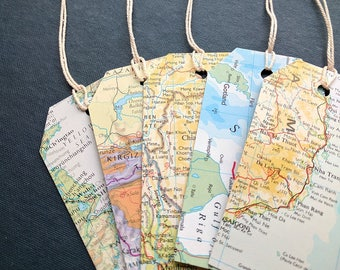 Tags etsy au map gift tags travel theme art journal ephemera gift tags string party gumiabroncs