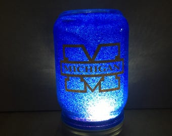 Michigan, U of M night light, U of M gift, U of M decor