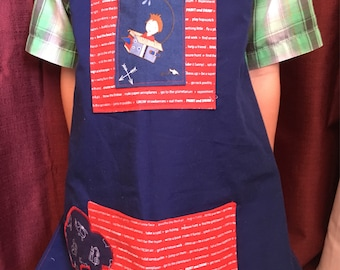 Kids Apron- cars, trucks, kids apron, Play, Cooking,