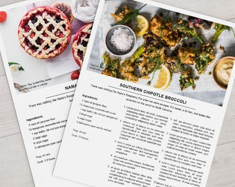 Printable recipe template 85x11 microsoft publisher instant printable photoshop recipe template 85x11 instant download forumfinder Choice Image