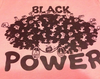 Black Power Fitted Tee