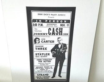 Johnny Cash Rhode Island silver gelatin print