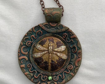 Ancient Dragonfly Pendant