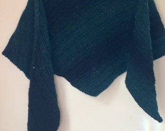 Green and black shawlette
