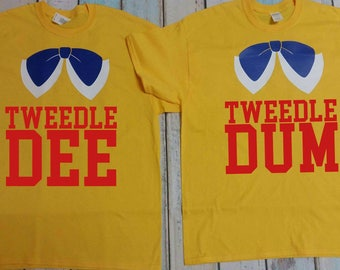 Tweedle Dee and Tweedle Dumb Adult T-Shirt