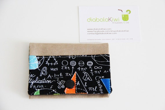 Card holder - maths - sciences - black - colors - chemistry - geek - Moebius - business cards - shopping cards - Maths - Black