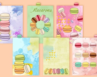 Macarons...Dividers with top tabs for Filofax A5