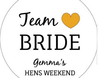 Team Bride Stickers, Personalised Hens Party Stickers, Hens Labels, Hens Stickers, Bacherlorette Party Gifts, Team Hen, Free Shipping
