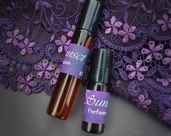 Sunset Perfume - Natural artisan perfume - Handmade Perfume - Roll On Perfume -  Natural Perfume - Aphrodisiac - Evening  perfume