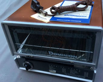 Dominion Portable Oven  Vintage New Old Stock NOS