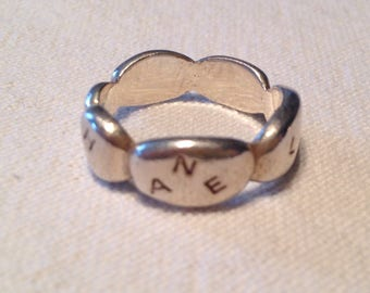 CHANEL - Signed silver ring