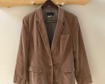 vintage C Collections tan corduroy blazer, 18