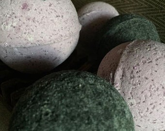 Lavender and Black Charcoal Bath Bomb